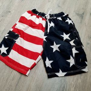 USA American Flag Swim Trunks. Perfect Condition!